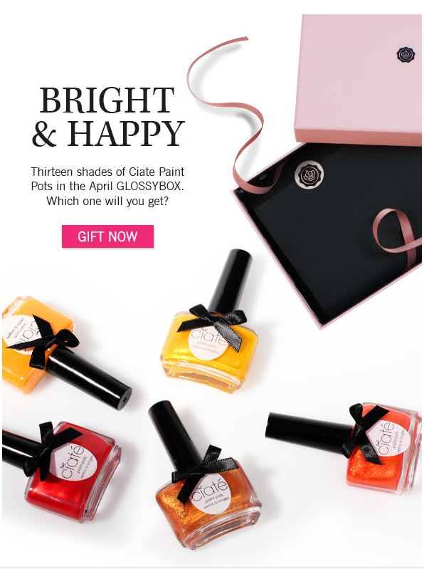glossybox spolier april 2014